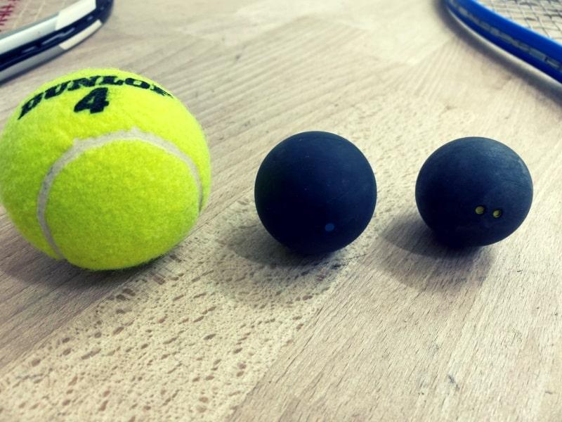 Squashbollar och Tennisboll