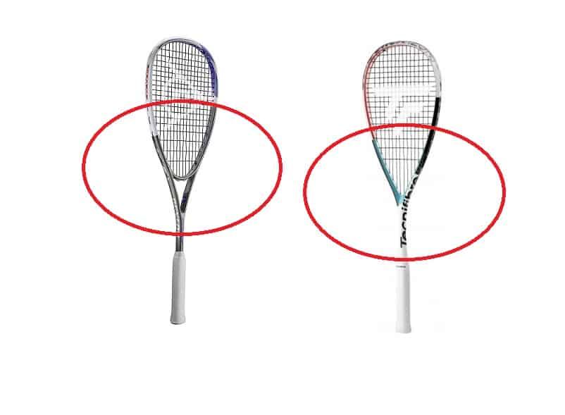 jämförelse mellan klassiskt och droppformat squashracket