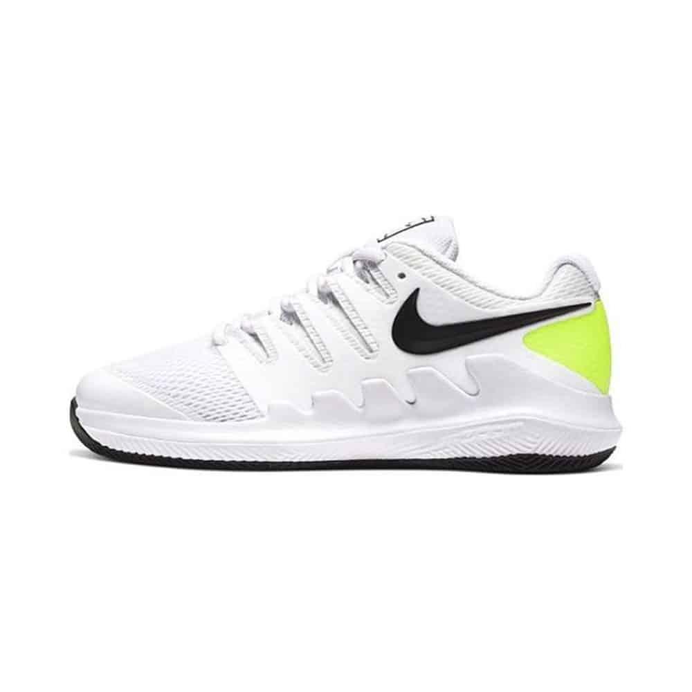 bästa tennisskon för juniorer Nike Vapor X Junior White/Volt